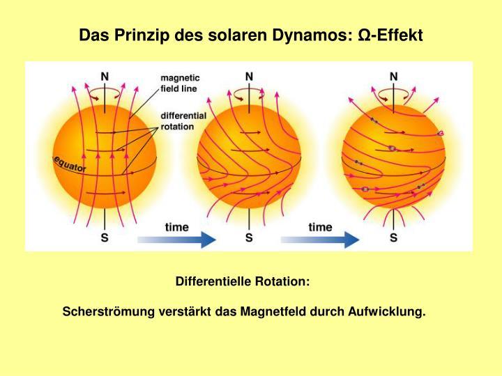Das Prinzip des solaren Dynamos: