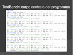 testbench corpo centrale del programma