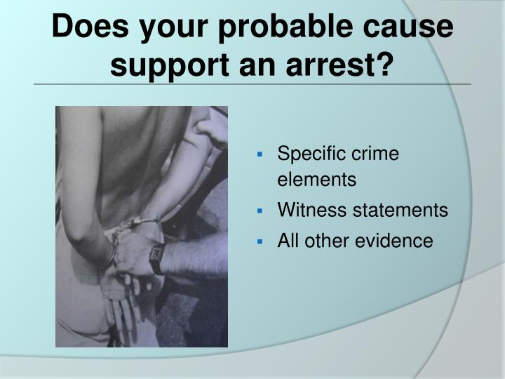 Does your probable cause