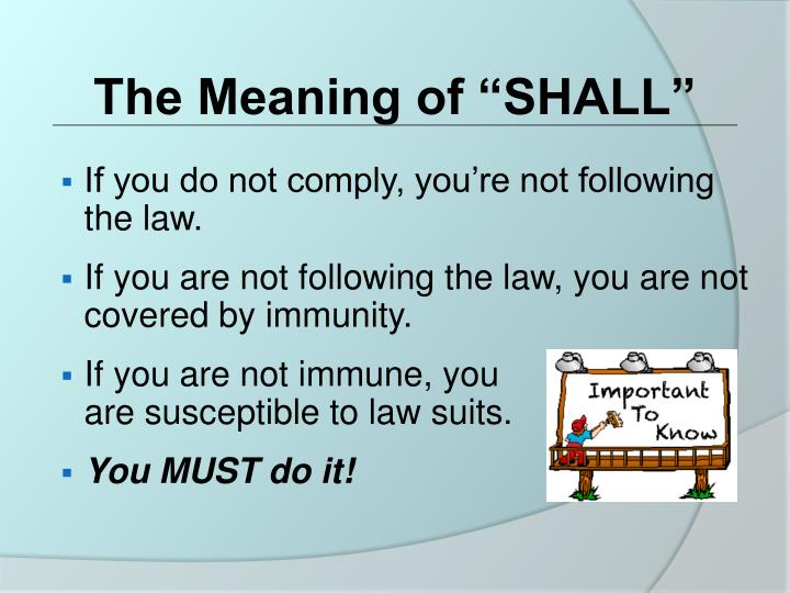 "The Meaning of ""SHALL"""