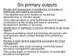 six primary outputs