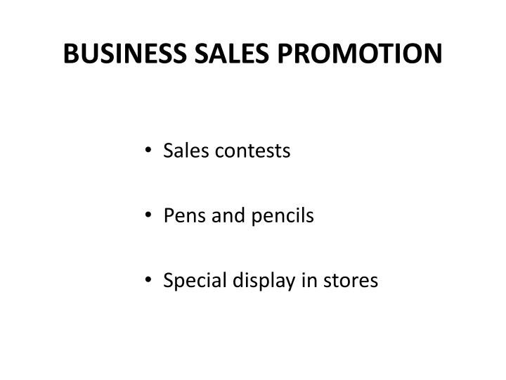 BUSINESS SALES PROMOTION