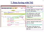 7 data saving with t42