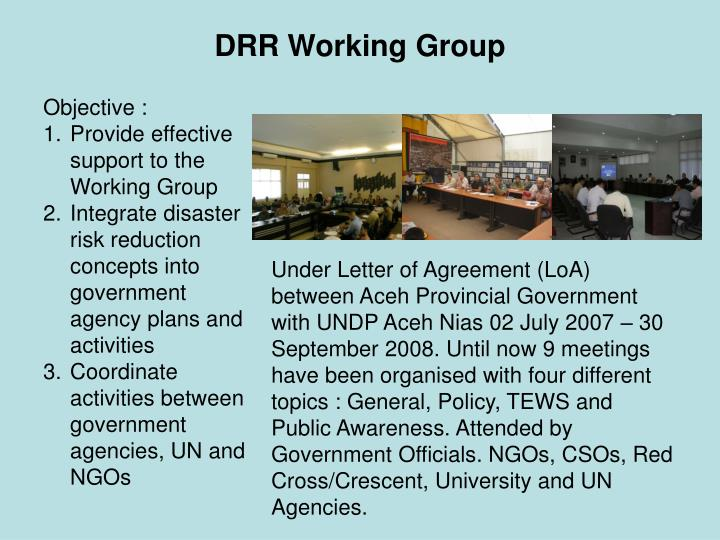 drr working group n.
