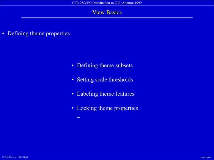Defining theme properties