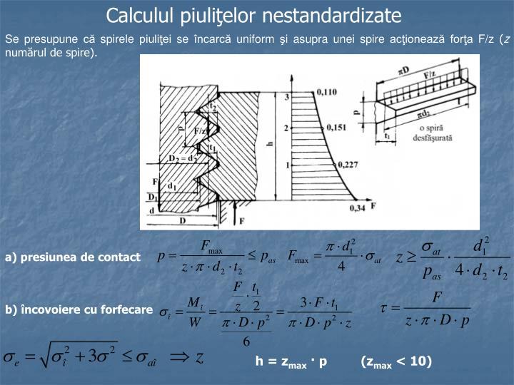 Calculul piuliţelor nestandardizate