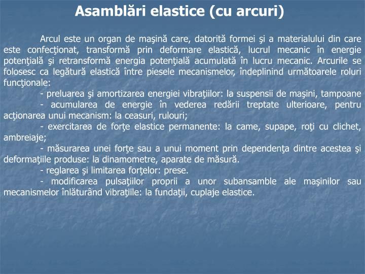 Asamblări elastice (cu arcuri)