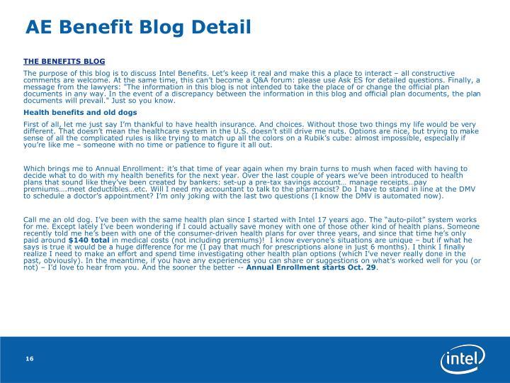 AE Benefit Blog Detail