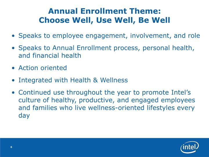 Annual Enrollment Theme: