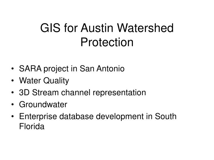 gis for austin watershed protection n.