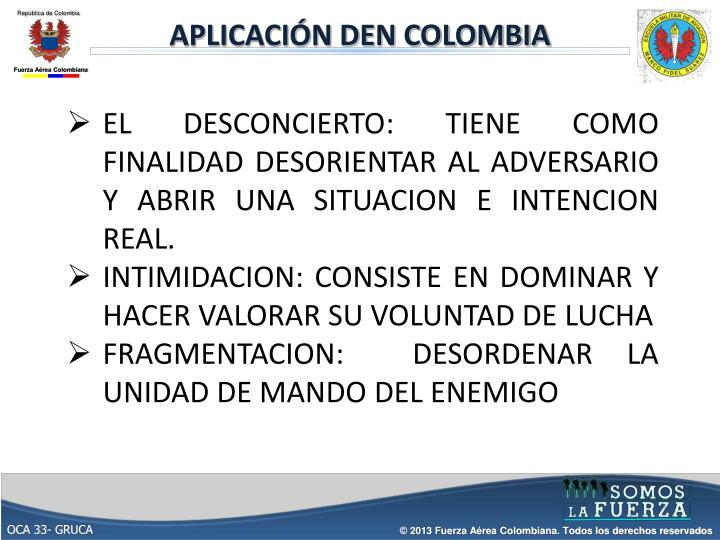 APLICACIÓN DEN COLOMBIA