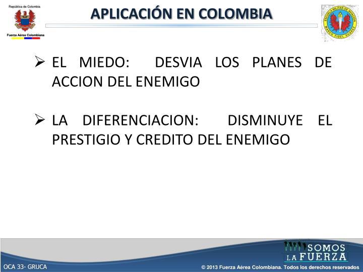 APLICACIÓN EN COLOMBIA