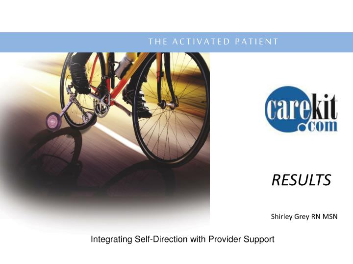 integrating self direction with provider support