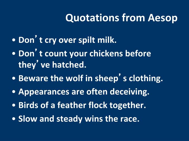 Quotations from Aesop