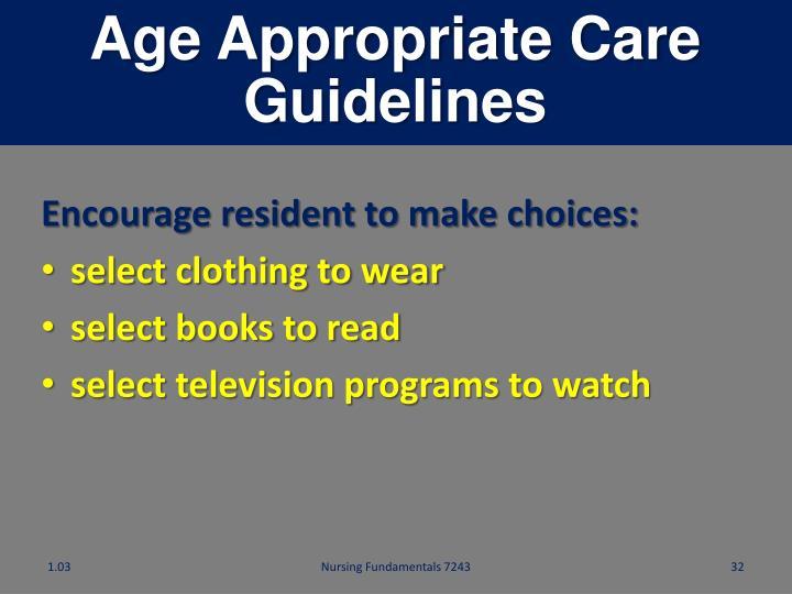 Age Appropriate Care
