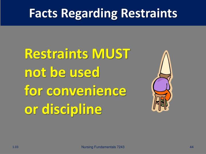 Facts Regarding Restraints