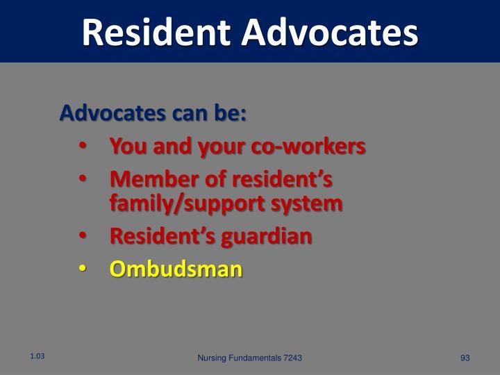Resident Advocates