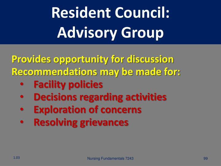 Resident Council: