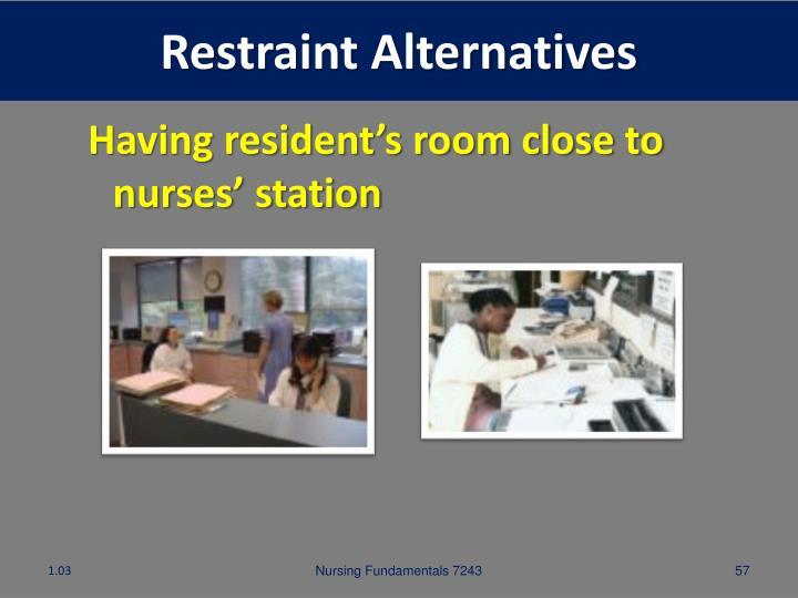 Restraint Alternatives