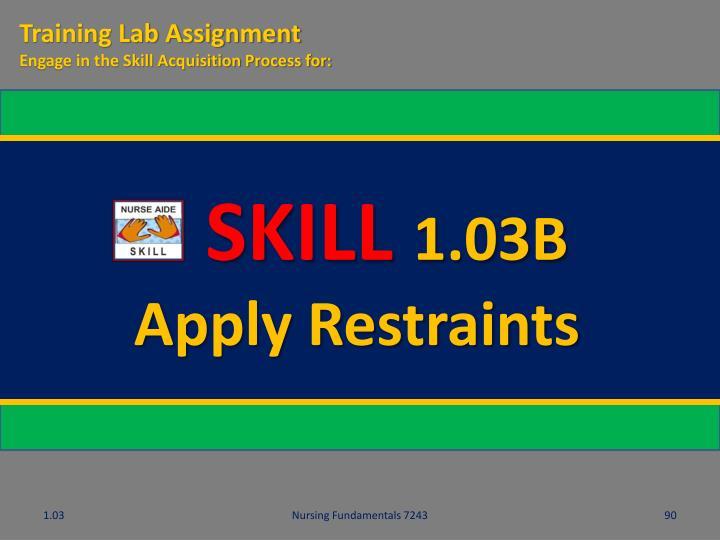 Training Lab Assignment