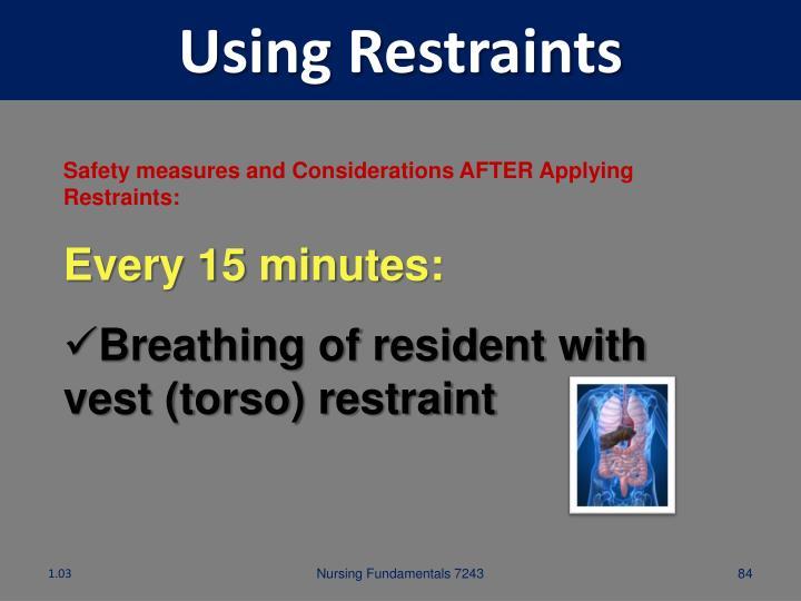 Using Restraints