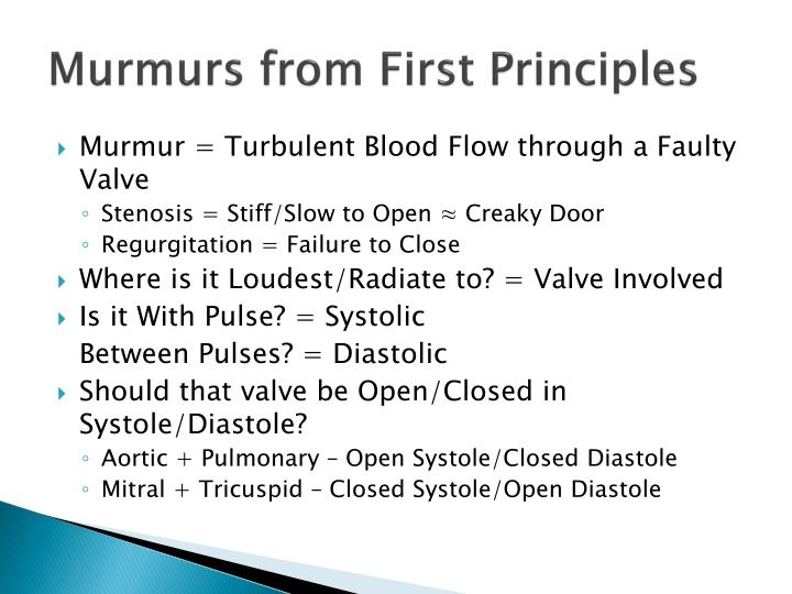 Murmurs from First Principles