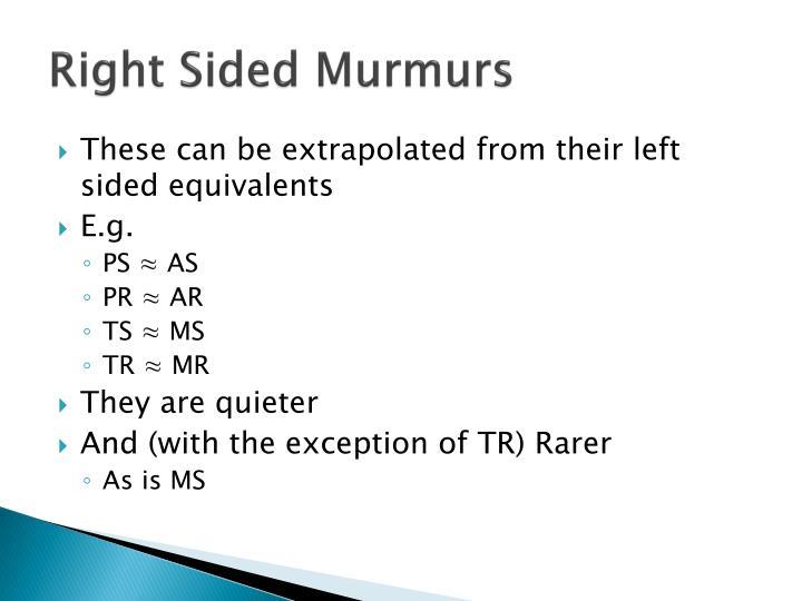 Right Sided Murmurs