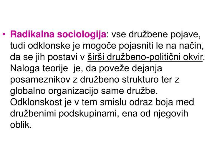 Radikalna sociologija