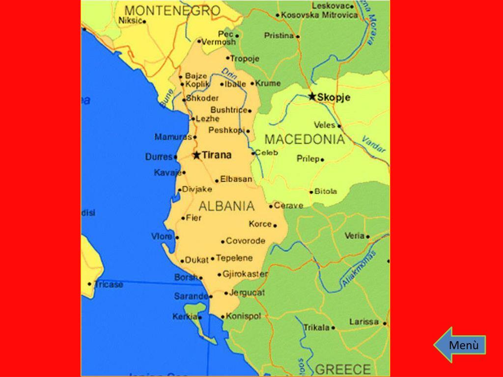 Albania Cartina Stradale.Ppt La Mia Albania Powerpoint Presentation Free Download Id 7041314