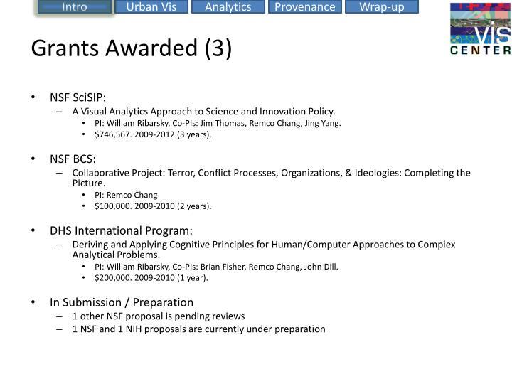 Grants Awarded (3)