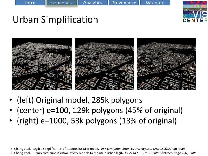 Urban Simplification