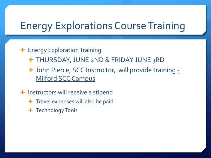 Energy Explorations Course Training