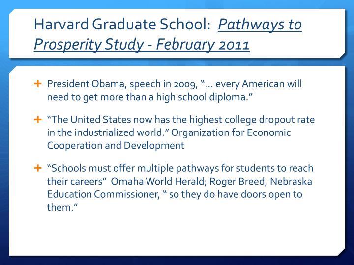 Harvard graduate school pathways to prosperity study february 2011