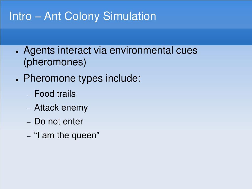 Ant Colony Simulator