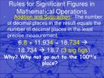 rules for significant figures in mathematical operations