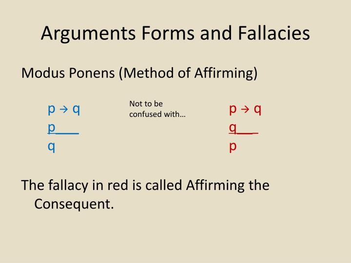 Arguments Forms and Fallacies