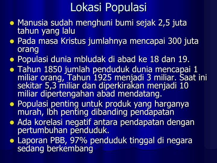 Lokasi Populasi
