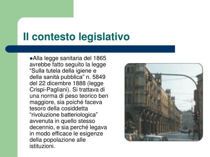 Il contesto legislativo