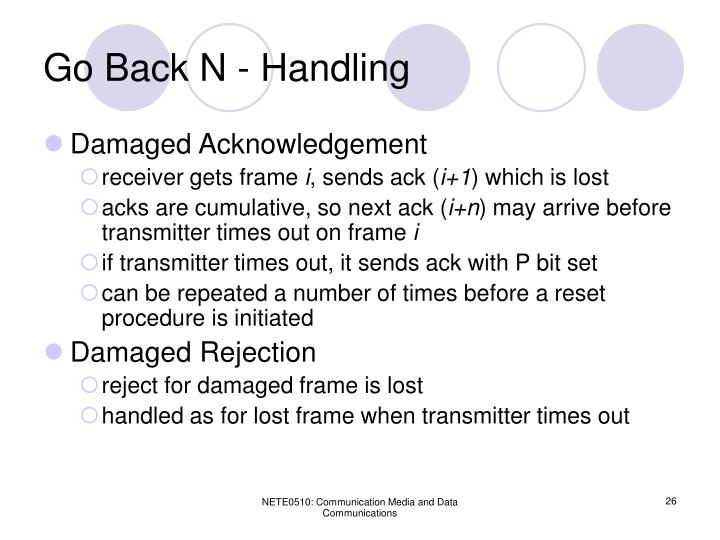 Go Back N - Handling