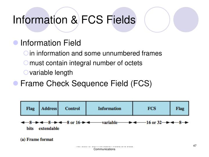 Information & FCS Fields