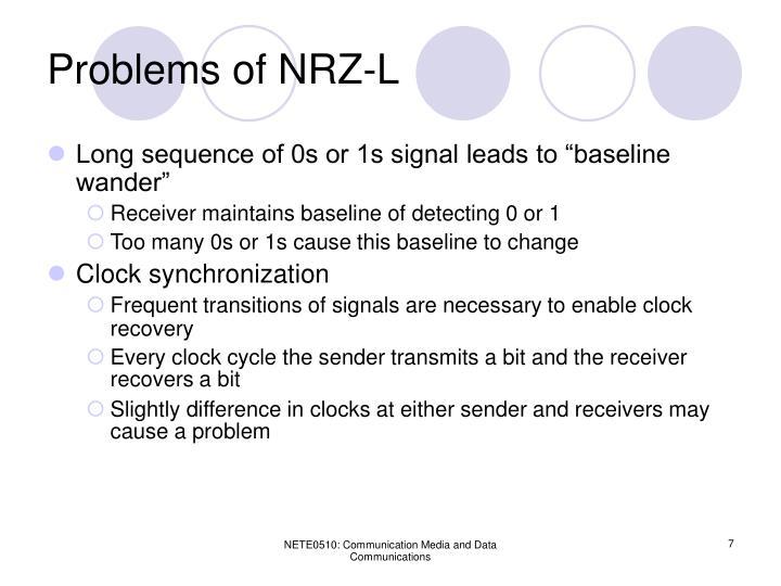 Problems of NRZ-L