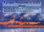a proper response to god s word