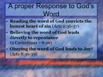 a proper response to god s word2