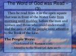 the word of god was read 31