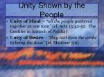 unity shown by the people1