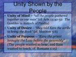 unity shown by the people2