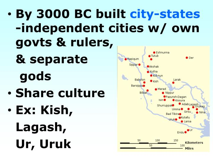 By 3000 BC built