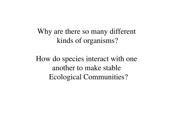 when different kinds of organisms interact Ecological communities: networks of interacting species  a food web is an assemblage of organisms,  members of a food web may interact with one another via any.