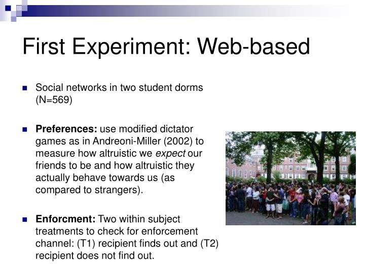 First Experiment: Web-based