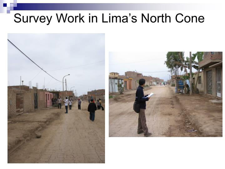 Survey Work in Lima's North Cone